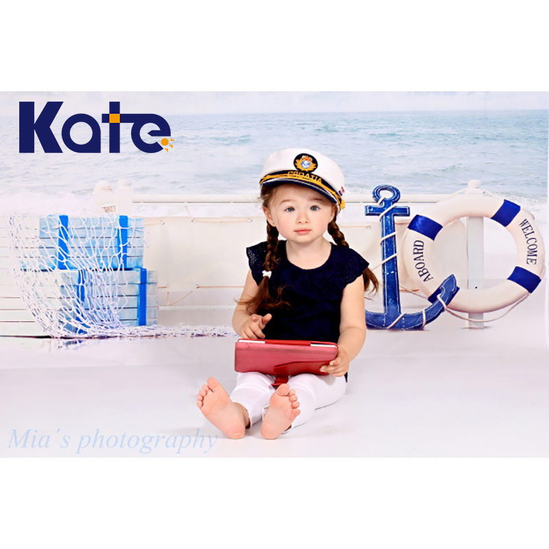5*6.5Ft(150Cmx200Cm)Kate Beach Photography Backdrops Clouds Sea Backdrop Photography Baby Background Photo Studio Background allenjoy easter basket butterfly photography backdrops spring photography background photo studio background