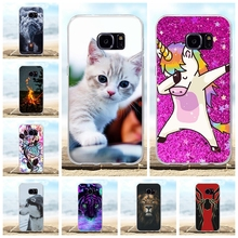 For Samsung Galaxy S7 Case Soft TPU Silicone For Samsung Galaxy S7 G930F G930FD G930W8 Cover Cat Pattern For Samsung S7 Funda все цены