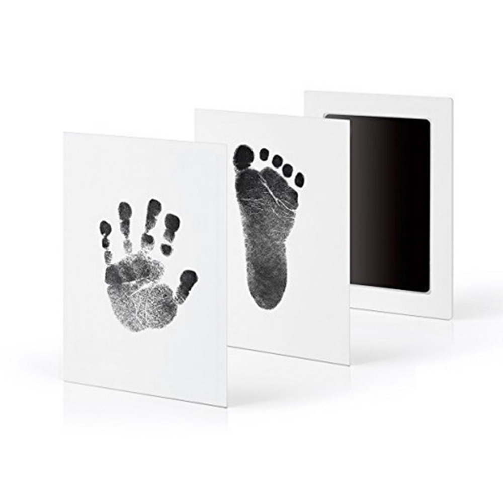 Newborn Baby Handprint Footprint Oil Pad Painting Ink Pad Photo Hand Foot Print Pad Wonderful Keepsake Smart Inkless Touch