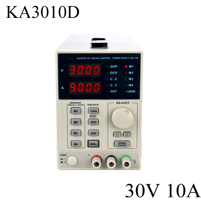 цена на KORAD KA3010D -Precision Variable Adjustable 30V, 10A DC Linear Power Supply Digital Regulated Lab Grade