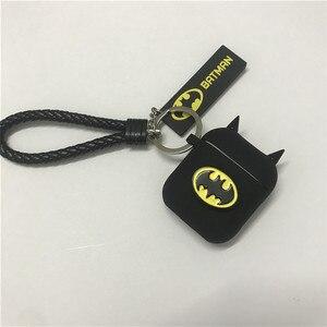 Image 3 - Hot Batman The Dark Knight Auricolare Custodie Per Apple Airpods Auricolare Senza Fili di Bluetooth Della Copertura Del Silicone Per Laria baccelli 2 Accessori