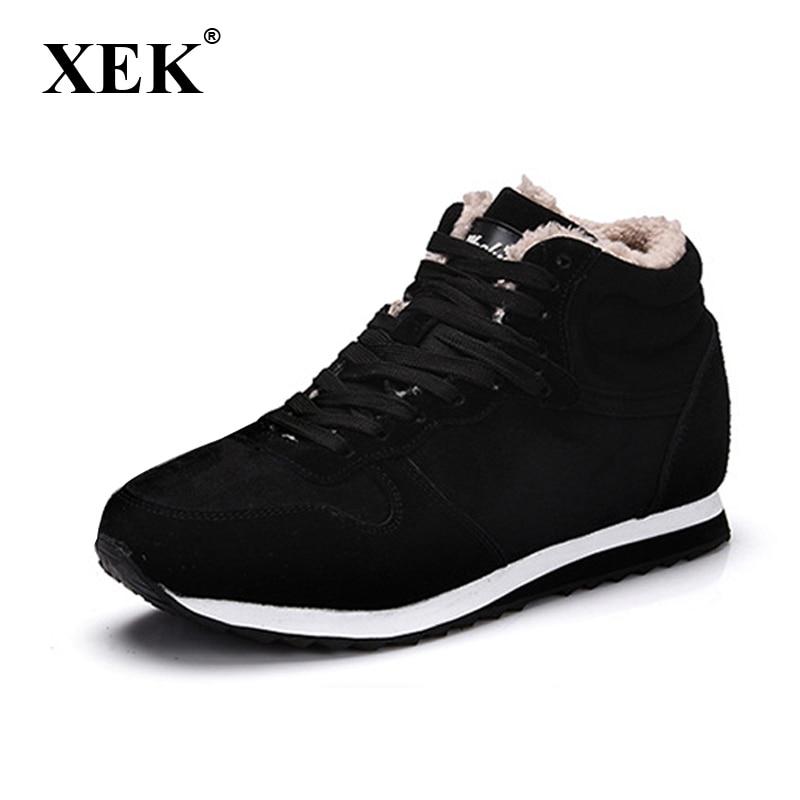 Winter font b Men b font Women Boots Warm Plush Sneakers Brand Outdoor Unisex Sport font