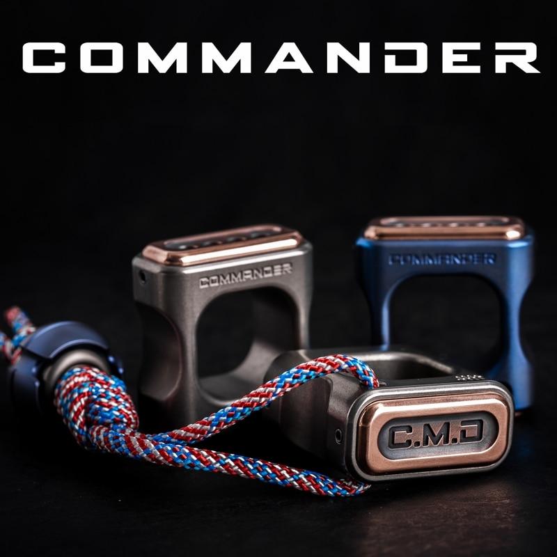 Commander Titanium Material New EDC Self-defense Equipment Multi-function Self-defense Tools self defense transformer multi functional edc knife