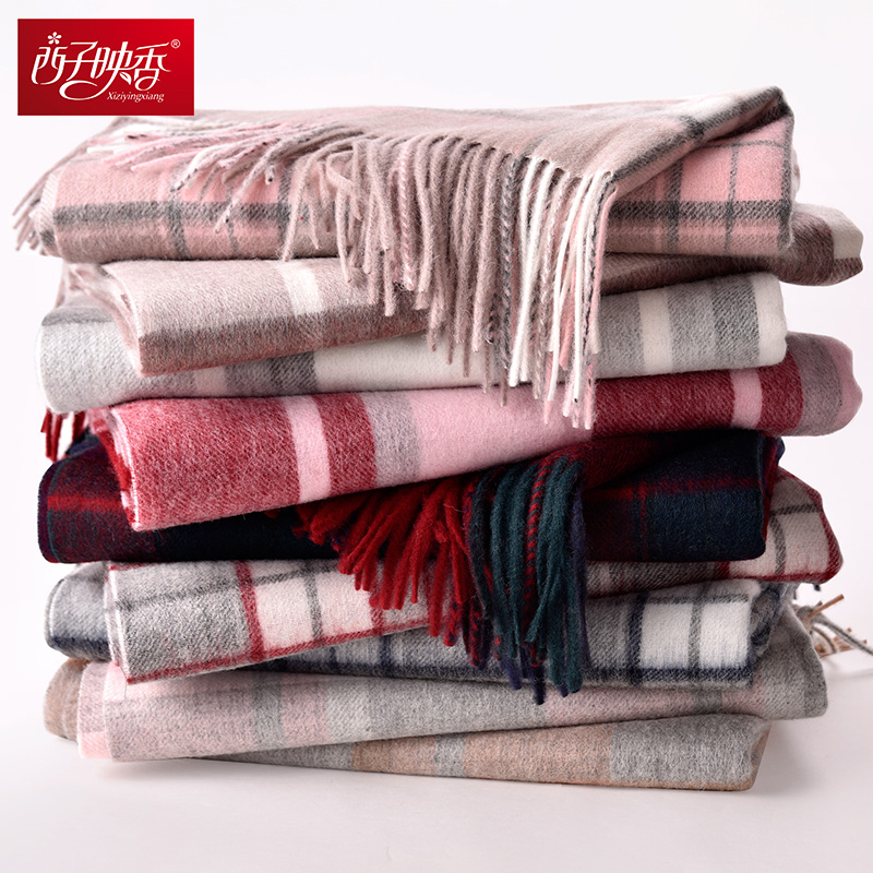 Plaid 2018 Luxury Winter   Scarf   Women Thicken Warm   Scarves   Wool   Scarf   Female   Wrap   Pashmina Tassels Solid Color   Scarf