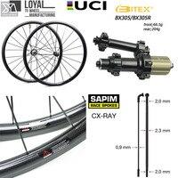 Углеродного волокна 700C дорожный велосипед колеса 25 мм или 27 мм Ширина Aero велоспорт колесная с Тайвань BITEX 305F 305R концентратор и Sapim СХ лучей