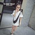 2016 nueva mujer Verano de Los Cabritos Camiseta Niña Exploradora verano camisa y camisas largas en Coreano Envío Gratis Envío Gratis