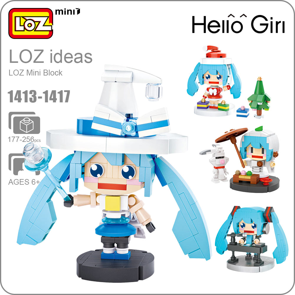 LOZ Mini Blocks Girl Character Keyboard Magician Christmas Building Blocks Figures Gift Assembly Model DIY Educational 1413-1418