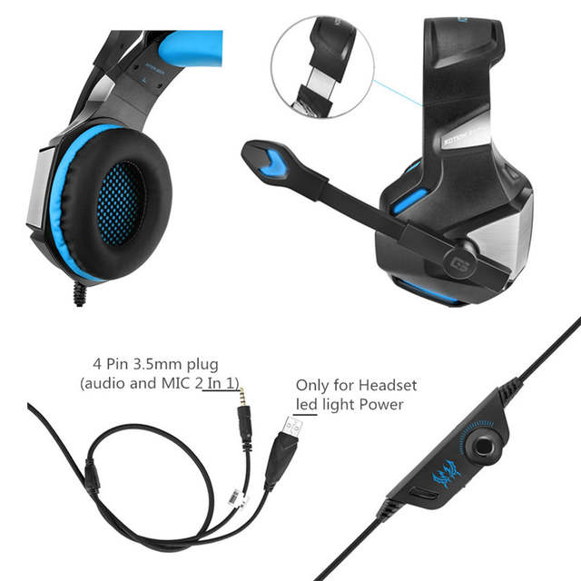 KOTION EACH G7500 Gaming Headset Headphone with Led