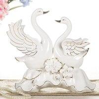 Современный творческий керамические пара лебедей фигурки украшения животных фарфор дома гостиная аксессуары свадебный подарок ремесла