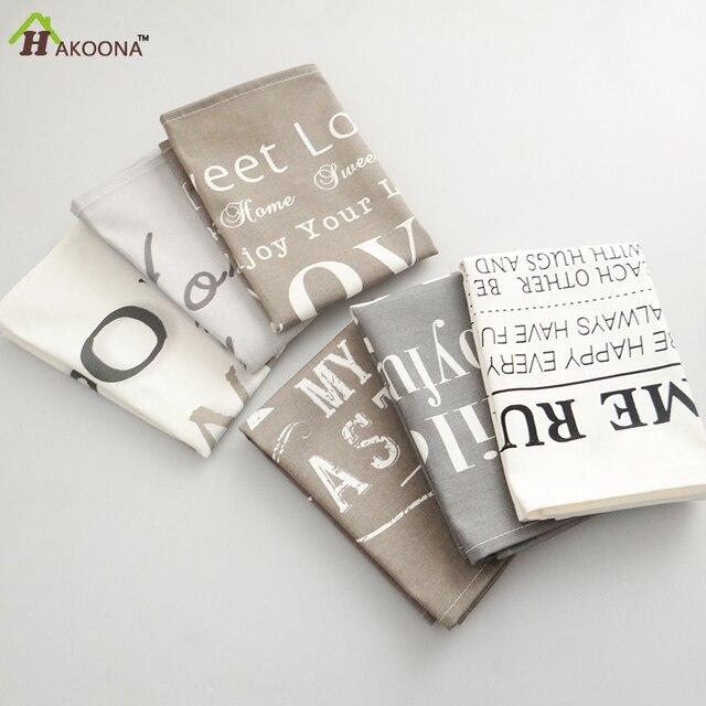 Hakoona/неанглийские символы Таблица правило печатных салфетки 30*42 см утолщаются Кухня колодки хлопок лен Посуда колодки