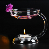 Glass Oil Incense Burner High Quality Candle Aromatherapy Oil Lamp Living Home Office Room Decorations