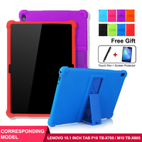 SZOXBY For Lenovo P10 Cover Tablet TB-X705F/N  M10 X605 Silicone Case 10.1 Inch Child Drop Shell Silicone Tablet Case Cover