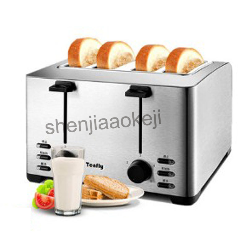 Household stainless steel  4slices toaster breakfast machine commercial bread toaster THT-3012B 220v 1260w1pc cukyi 2 slices bread toaster household automatic toaster breakfast spit driver breakfast machine