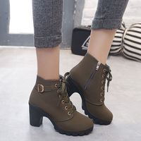 Women Boots British Style Classic Women Motorcycle Brand Boots Autumn Waterproof Shoes Black Shoes Woman