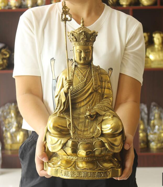Sculptures antiques chinoises statues tibétaines en bronze pur, moine de la dynastie Tang de Bodhisattvas tibétains