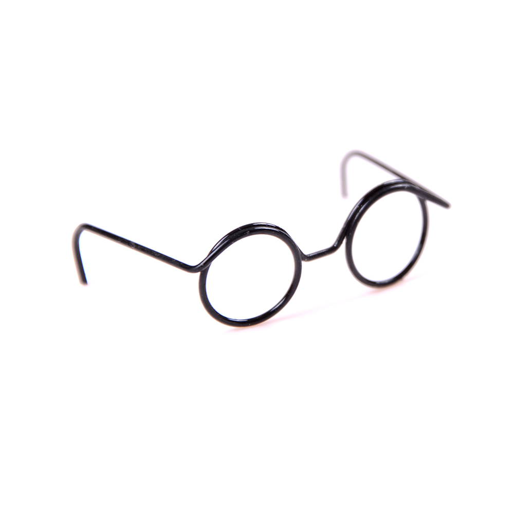 2 PCS Fashion Doll Toy Cool Round Frame Glasses For Dolls Glasses Pet Toy Photo Prop Pet Glasses Toy Doll Retro Cool Glasses