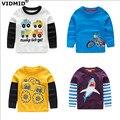 Мальчик рубашки Мальчиков Футболки Дети Тис Baby Boy марка футболки детская одежда детская одежда весна осень с длинными рукавами