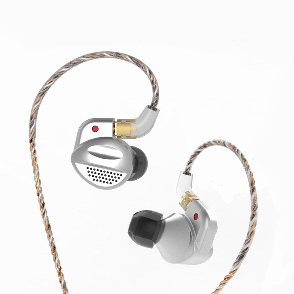 SENFER MT100 1BA With Orthodynamic Planar Diaphragm Hybrid Unit In Ear Earphone HIFI Metal Earphone Detachable Detach MMCX Cable