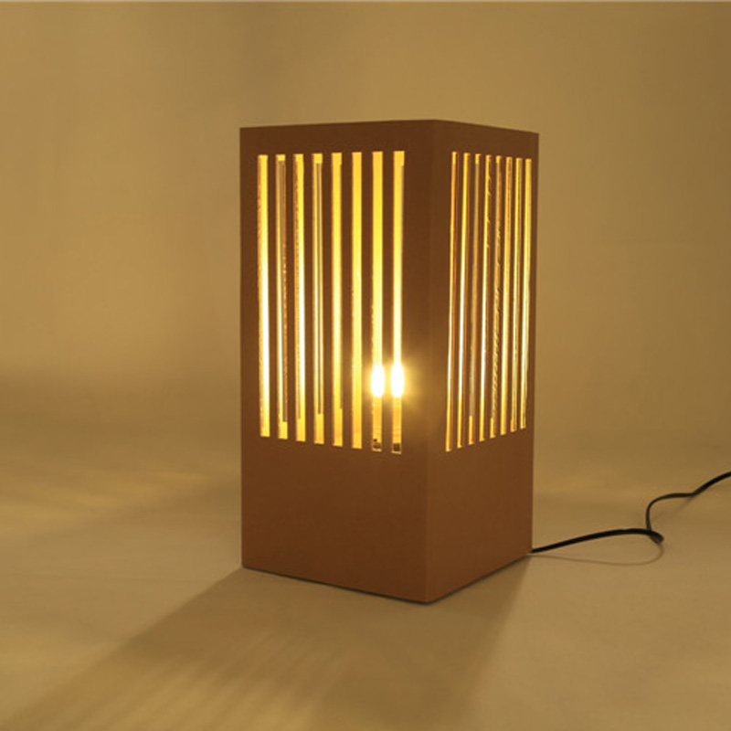 Chinese Style Lamp with LED Bulb Paper Craft Home Decoration New Life Style Light Creative Cardboard Eco-friend Party Supplies mipow btl300 creative led light bluetooth aromatherapy flameless candle voice control lamp holiday party decoration gift