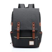 Men Backpack Canvas Laptop Backpacks Large Students School Bags Computer Notebook Bag Book Packs Travel Rucksack