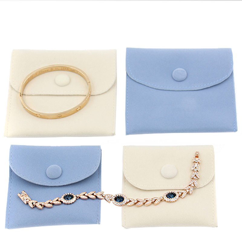 New 2019 Velvet Jewelry Bag Blue Women's Soft Jewellry Protect Bags Necklace Storage Pouches Home Use Card Bag