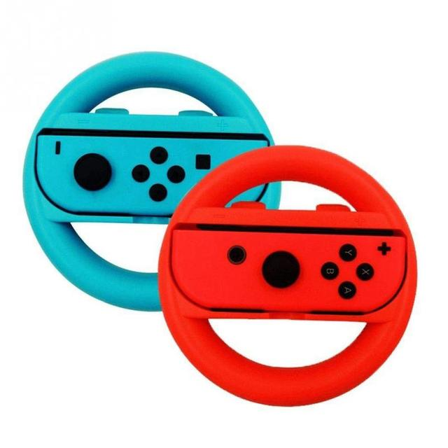US $4 47 6% OFF|1 Pair ABS Game Switch Controller Joy con Handle For  Nintendo Wheel Steering Wheel hot~-in Joysticks from Consumer Electronics  on