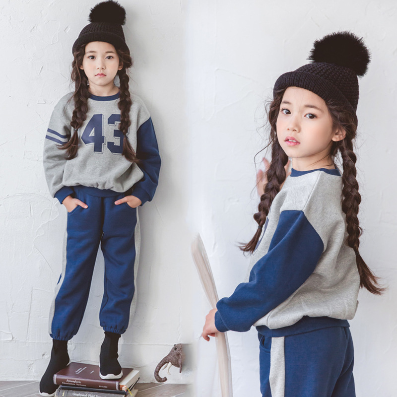 Tracksuit for Girls Boys Children Clothing Kids Clothes Sports Suit Teens Striped and Letter Printed T-shirt and Pants CC536 casual panda pattern striped t shirt crop pants twinset for boys