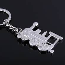 JEWELRYGIFT Brand Locomotive Key Chain Ring Llavero Train Loco Chaveiro Keyring Key Holder Keychain Steam Train Model Jewelry(China)