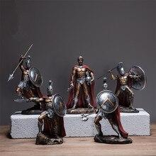 Винтажная римская Скульптура солдата, греческая мифологическая фигура, ретро декоративная статуя, средневековая доспехи, статуя Божья статуя, кукла из смолы, декор R02