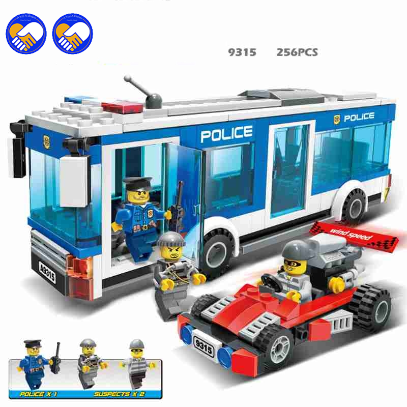 A toy A dream GUDI City Police Series Truck Building Blocks City Police Interception Culprits Truck Blocks Toys Children a toy a dream lepin 15008 2462pcs city street creator green grocer model building kits blocks bricks compatible 10185