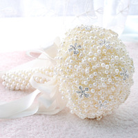 Bride Holding Flowers Bouquet Marriage Artificial Pearl flower creative photography props holding flowers ball wedding supplies
