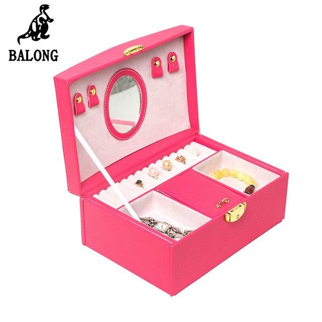 Elegant Single Layer Jewelry Display Organizer PU Leather