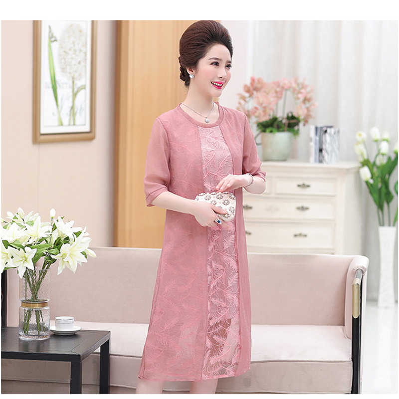 eb0fb2f8cb It's Yiiya Mother of the Bride Dresses Plus Size Chiffon O-Neck Half Sleeve  Fashion Designer Elegant Mother Dress M006