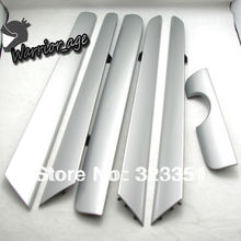 OEM 6Pcs Door Panel Dash Trim Set Silver for VW Vento Jetta MK6 NEW 16D 858 415 RV9 16D858415 RV9 16D 867 439 RV9 16D867439 RV9