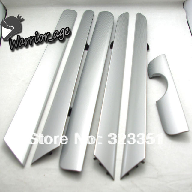 OEM 6Pcs Door Panel Dash Trim Set Silver for VW Vento Jetta MK6 NEW 16D 858 415 RV9 16D858415 RV9 16D 867 439 RV9 16D867439 RV9