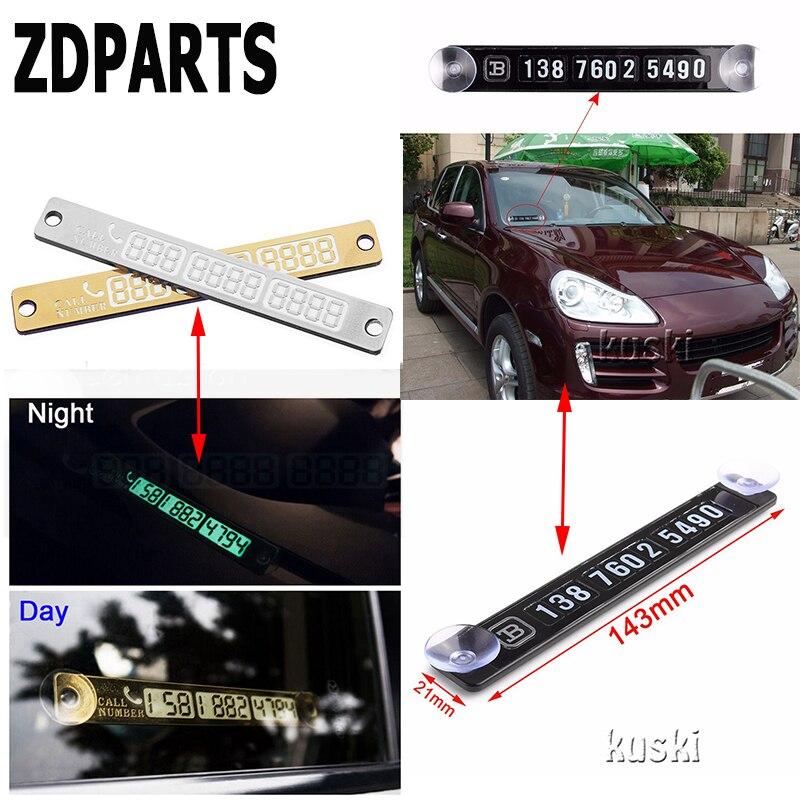 ZDPARTS Car Magnetic Luminous Temporary Parking Card For Lada Granta Vesta Kalina Priora Toyota Corolla Avensis Rav4 Fiat 500