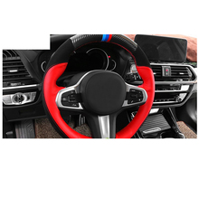 Lsrtw2017 Cow Leather Car Steering Wheel Anti-slip Cover for Bmw X3 2018 2019 2020