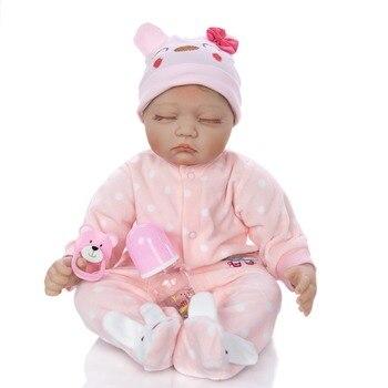 Silicone reborn baby doll toys for girls play house lifelike newborn reborn girl bebe birthday gift