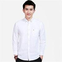 White Oxford shirt For Men/Summer Cotton Men's Wedding Shirts Street Style Casual Tuxedo Clothes