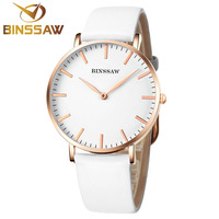 MS BINSSAW 2017 nieuwe ultradunne luxe merk quartz horloge delicate gecontracteerd business vrouwen polshorloge gift leer kleur meer
