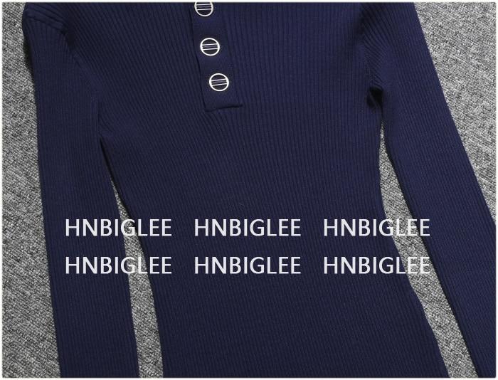 Femmes Ziwwshaoyu Longues Col Rond De Hiver Chemise Bleu Et Pull Chandail 2018 Automne Blouse À Mince Manches fWwYf