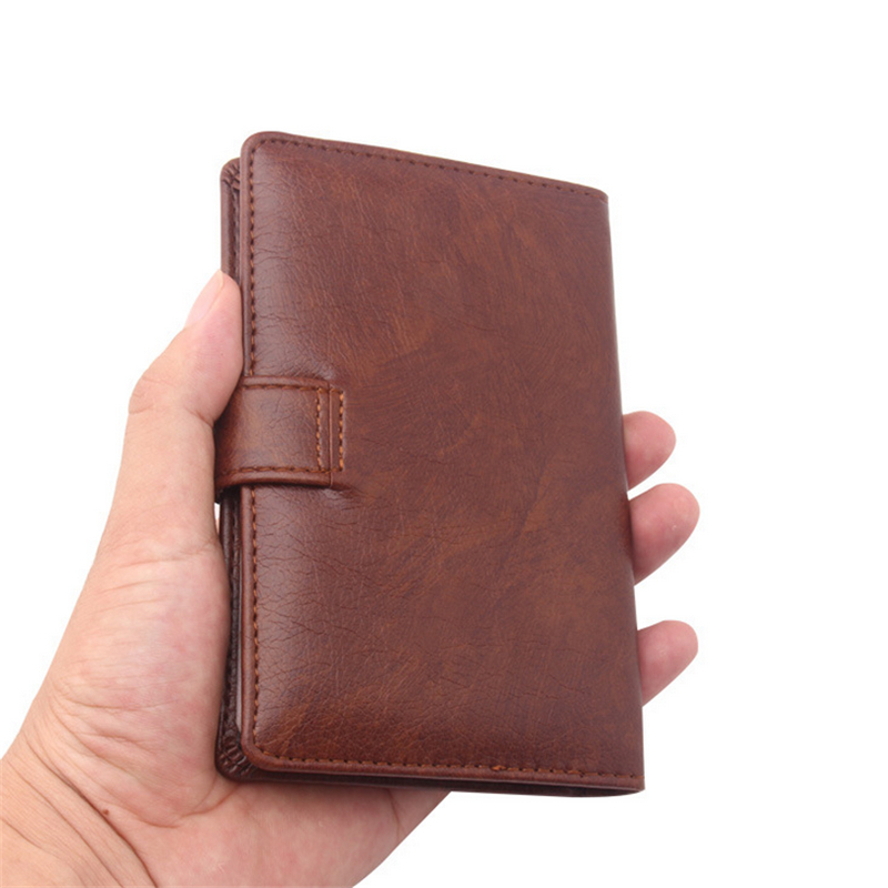 Men Passport Cover Organizer Russian Driver License Documents Case PU Leather Credit Card Holder Porte Carte Bancaire Card Pouch