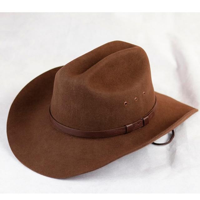8c0d38b6a38 Mens Wool Felt Western Outback Cowboy Hat
