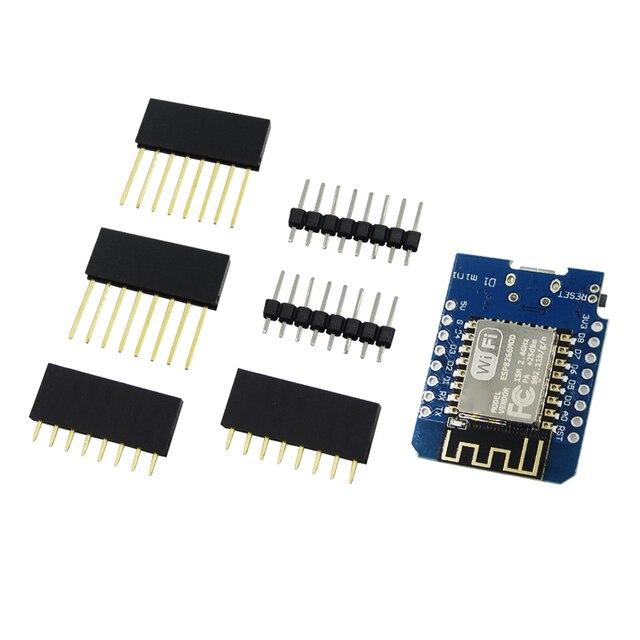 10 세트 d1 미니 미니 nodemcu 4 m 바이트 문 esp8266 wemos에 대한 개발 보드를 기반으로 사물의 와이파이 인터넷