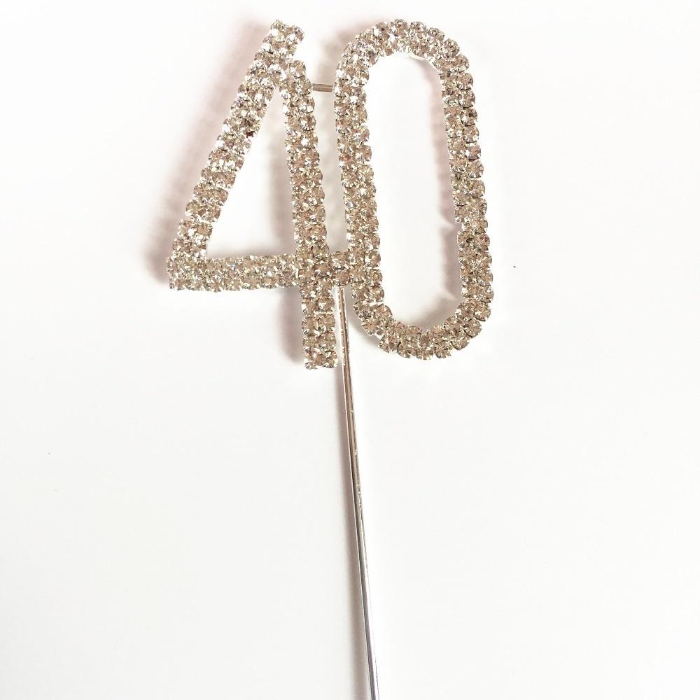 Happy 40th Birthday Marriage Anniversary Party Decoration Kits 5 Cm