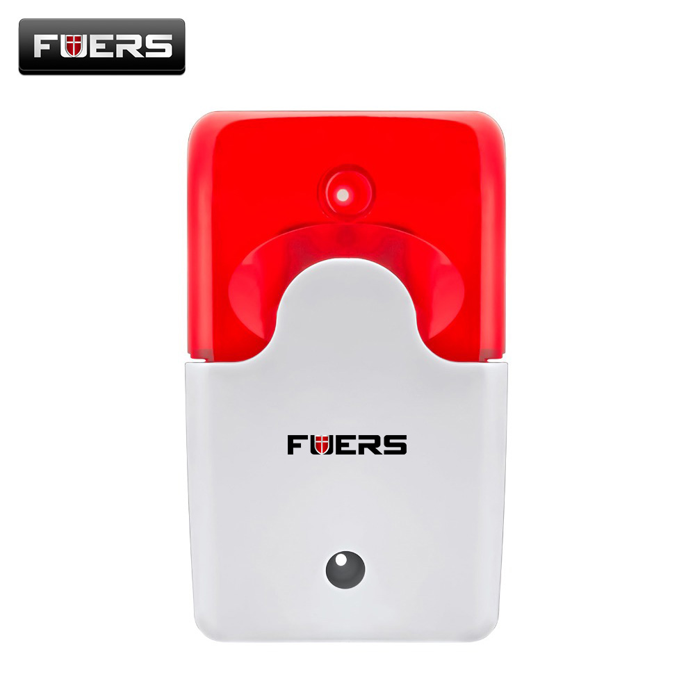 Wired Indoor Wired Siren Red light Siren Flash Sound Alarm Systems Security Home Strobe Mini Siren Sound For Home Security