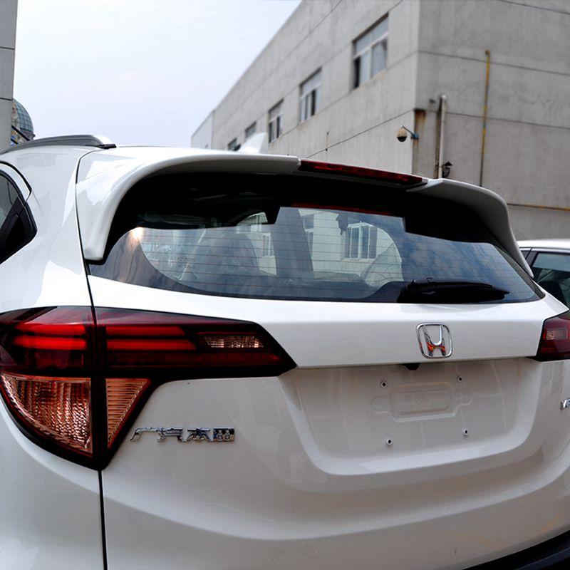 For Honda HRV HR-V Vezel 2014 2015 2016 Exterior ABS Plastic Unpainted Primer Color Rear Boot Trunk Wing Spoiler Car Accessories