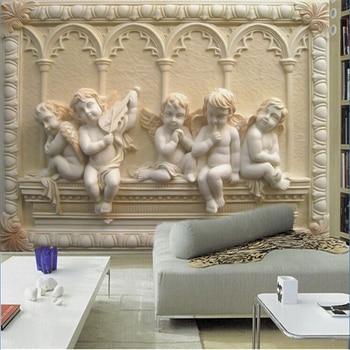 beibehang Custom mural wallpaper for walls European stereoscopic relief jade living room TV backdrop bedroom 3d photo wall paper цена 2017