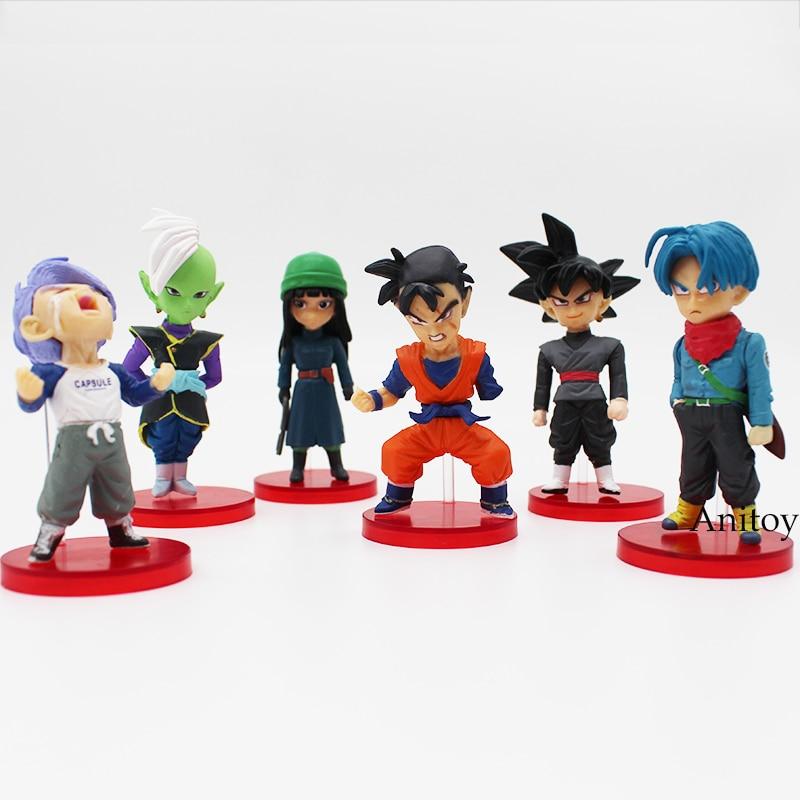 Dragon Ball Super vol.6 Son Gohan Goku Black Trunks Mai Zamasu PVC Figures Collectible Model Toys 6pcs/set 6-8cm earth 2 vol 6