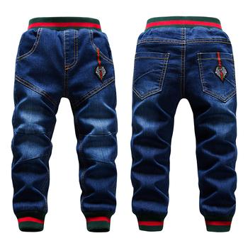 Zimowe duzi chłopcy spodnie jeansowe 2-14Yrs dzieci zagęścić dodaj wełniane spodnie Casual mycie niebieskie dżinsy Denim aksamitne kurtki ciepłe spodnie tanie i dobre opinie GB-Kcool Na co dzień Pasuje prawda na wymiar weź swój normalny rozmiar kids jeans Elastyczny pas Stałe REGULAR WHITE